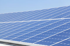 Solar panel installation Royalty Free Stock Images