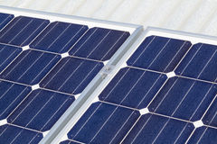 Solar panel installation Royalty Free Stock Photography