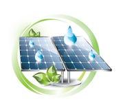 Solar panel set Stock Image