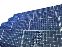 Solar panel isolated Royalty Free Stock Images