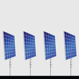 Solar panel isolated on gray background. Vector illustration Royalty Free Stock Photos