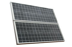 Solar panel isolated over white Royalty Free Stock Photos