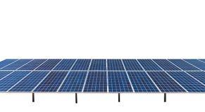 Solar panel isolated Stock Image