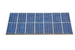 Solar panel , isolted , white background. Isolted object , white background solar panel electricity industry Royalty Free Stock Photos