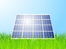 Solar panel landscape Royalty Free Stock Images