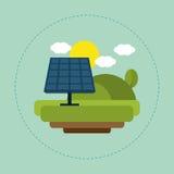 Solar panel landscape sun cloud Royalty Free Stock Image