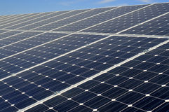 Solar panel. Large solar panel on the blue sky background Stock Photography