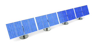 Solar Panel line Royalty Free Stock Photography