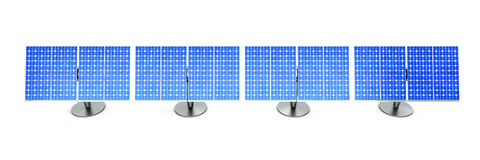Solar Panel line Royalty Free Stock Photos