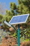 Solar panel located outdoor in the park Stock Image