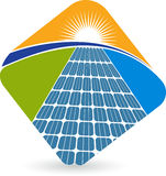 Solar panel logo Royalty Free Stock Photos