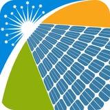 Solar panel logo Royalty Free Stock Photos