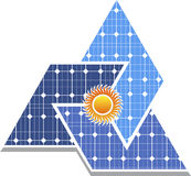 Solar panel logo Royalty Free Stock Photography
