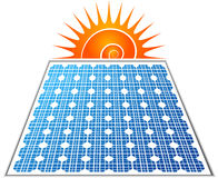 solar panel logo Royalty Free Stock Image