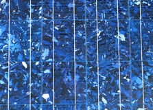 Solar Panel Macro. A macro image of a solar panel's photovoltaic material Stock Photography