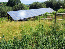 Solar Panel meadow Royalty Free Stock Image