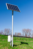 Solar panel measuring device Royalty Free Stock Photo