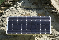 Solar panel. Modern solar panel on an old house in Ticino, Switzerland Royalty Free Stock Image