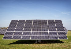 Solar panel. Modern Solar Panels in front of blue sky Royalty Free Stock Image