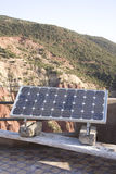 Solar panel in mountains Royalty Free Stock Image
