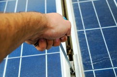 Solar panel mounting Royalty Free Stock Images