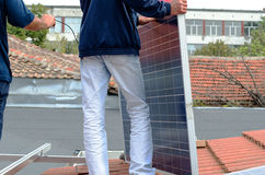 Solar panel mounting Royalty Free Stock Photography