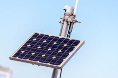 Solar panel for outdoor air monitoring station Royalty Free Stock Photography