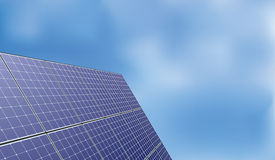 Solar panel over blue sky background Royalty Free Stock Photos