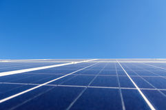 Solar panel over clear blue sky Royalty Free Stock Photography