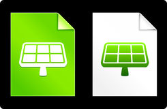 Solar Panel on Paper Set.  Stock Photo