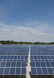 Solar panel park, verical Royalty Free Stock Photos