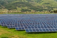 Solar panel, photovoltaic, alternative electricity source concept of sustainable resources. Solar panel, photovoltaic, alternative electricity source - concept stock photos