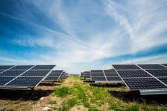 Solar panel, photovoltaic, alternative electricity source Stock Photo