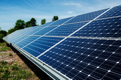 Solar panel, photovoltaic, alternative electricity source Royalty Free Stock Photography