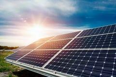 Solar panel, photovoltaic, alternative electricity source Royalty Free Stock Photos
