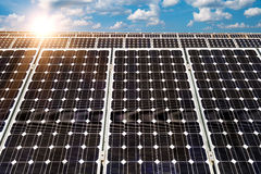 Solar panel, photovoltaic, alternative electricity source Stock Images