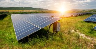 Solar panel, photovoltaic, alternative electricity source stock photography