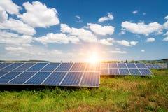 Solar panel, photovoltaic, alternative electricity source stock photos