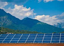 Solar panel photovoltaic energy Royalty Free Stock Image