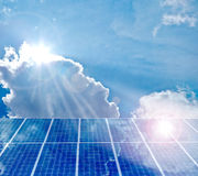Solar panel. Photovoltaic energy from sun Royalty Free Stock Image