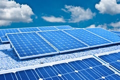 Solar panel and Photovoltaic. The future's energy stock images