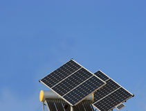 Solar panel and Photovoltaic panels. Solar panel and 2 Photovoltaic panels Royalty Free Stock Images
