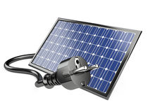 Solar panel with plug Stock Images