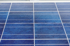 Solar panel and polycrystalline photovoltaic cells Royalty Free Stock Photography