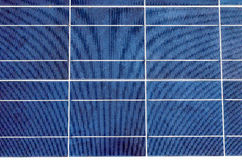 Solar panel and polycrystalline photovoltaic cells Royalty Free Stock Images