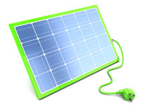 Solar panel with power cable Royalty Free Stock Photography
