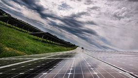Solar panel power Royalty Free Stock Photos