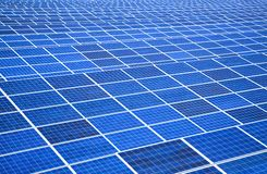 Solar panel and Power plant Royalty Free Stock Photography