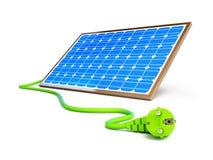 Solar panel power plug. On a white background Royalty Free Stock Photos