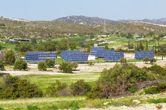 Solar panel produces green, environmentally friendly energy from the sun. Royalty Free Stock Photo